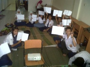 15 siswa yang berhasil dikumpulkan